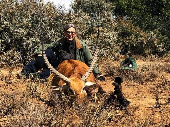 Lechwe trophy shot on an African hunting trip