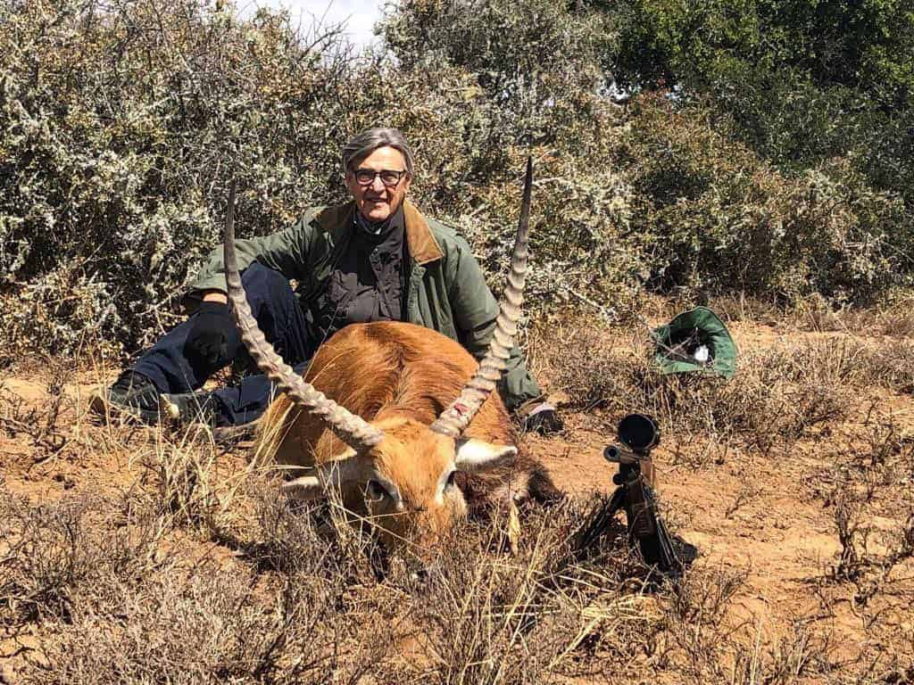 Lechwe trophy. Armando was looking for a high-quality Lechwe, Nyala, Waterbuck, and Bushbuck trophies in a free-range environment.