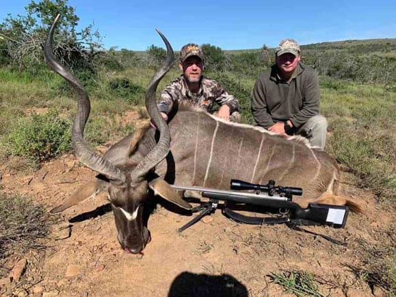 Kudu trophy shot on a African hunting trip.