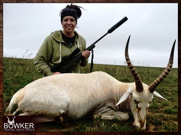 Review of nick bowker hunting and a white blesbok trophy.