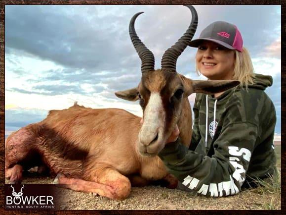 Copper springbok hunting