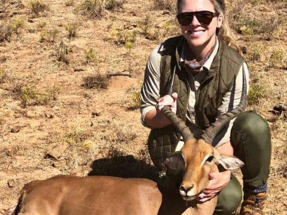 Impala trophy. While I was after Kudu, my wife had never shot a rifle outside of two rounds.
