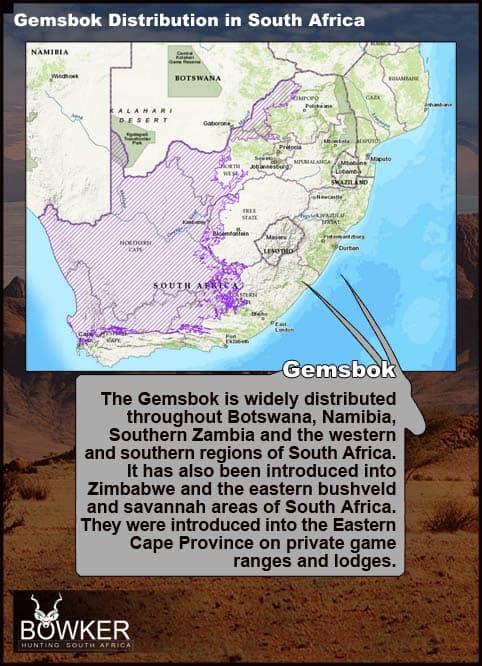 Distribution across South Africa.