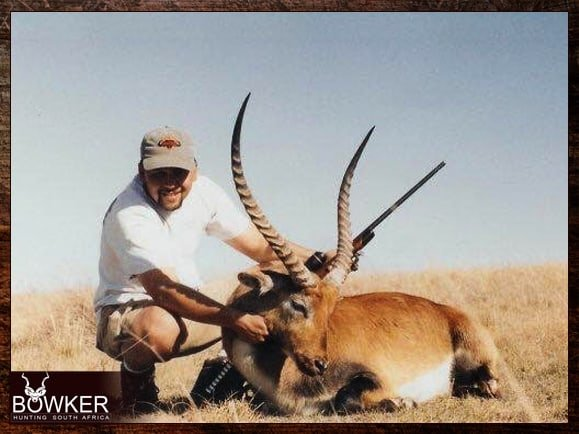 Red Lechwe trophy shot in South Africa
