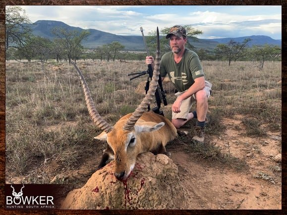 Red Lechwe hunting in South Africa.