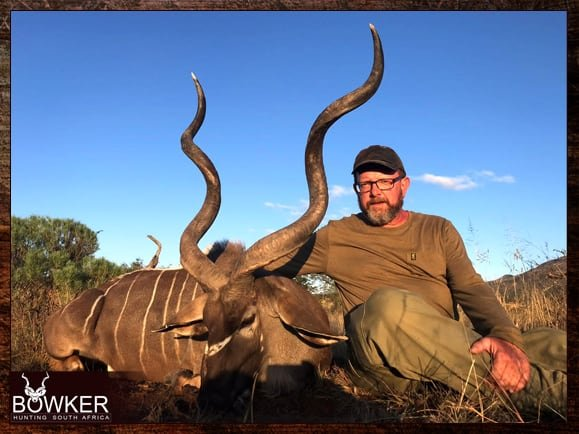 My first kudu trophy in Africa off African Shooting sticks.