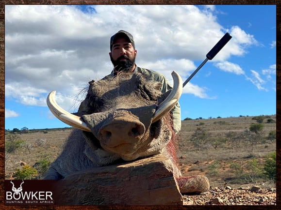 Trophy shot with Nick Bowker  in South Africa
