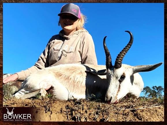 White springbok hunting